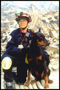 This photo was taken September 23, 2001, while FEMA's Urban Search and Rescue teams worked at the World Trade Center site in New York.